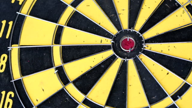 Dart hitting bull's eye video