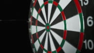 SLO MO dart hitting the inner bull video