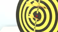 darts arrows in the target video