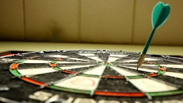 Darts In Dartboard video