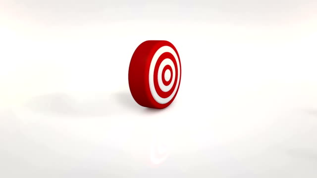 Darts on The Red Target Animation full HD video