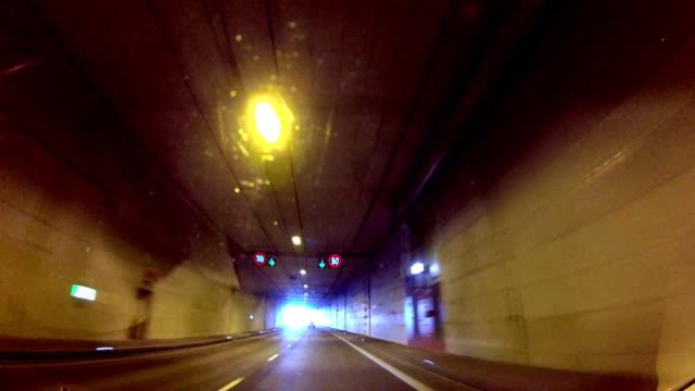 Dash Cam Driving Through Tunnel Under River POV, Poland Europe video