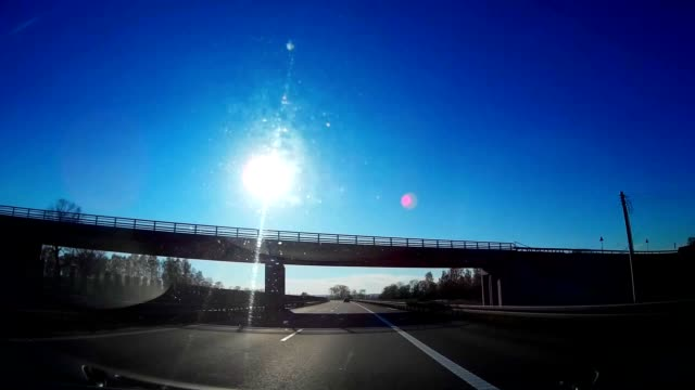 Dash Cam Highway Good Weather Conditions Driving POV, Poland Europe video
