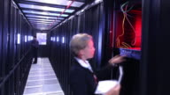 Data Center computer server room video