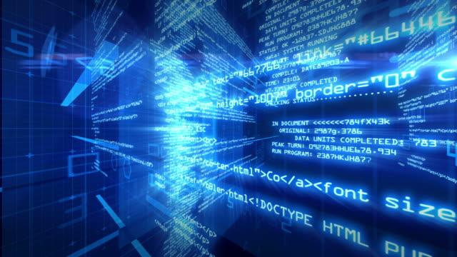 Data Code Digital Technology Animation 4K video