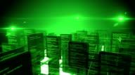Data network (Circling Camera, green) - Loop video