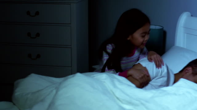 Daughter waking father video