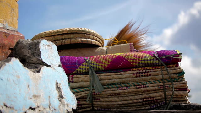 Davao Philippines Merchant of Beach Mats - a video
