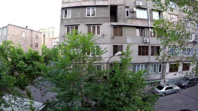 Dawn in the courtyard Yerevan, Armenia timelapse video video