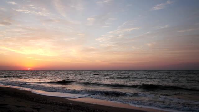 Dawn on the sea shore video