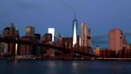 Dawn over Manhattan. Time Lapse video
