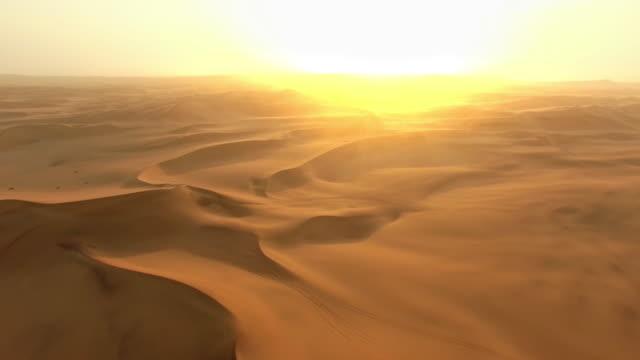 Dawn over the Namibian Desert video