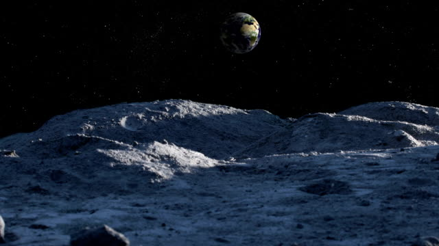 Dawn timelapse on the moon! video