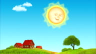 Day and night. Sun & Moon 3D animation. video