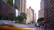 day light manhattan street traffic 4k time lapse from new york video