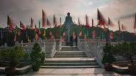 day light tian tan buddha statue 4k time lapse from hong kong video