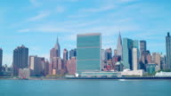 day panoramic view on manhattan buildings 4k time lapse from nyc video