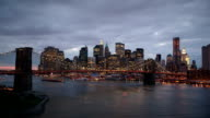 Day to Night Brooklyn Bridge timelapse video