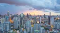 Day to night of Bangkok city skyline video