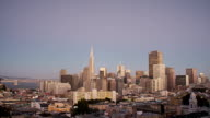Day to Night San Francisco skyline video