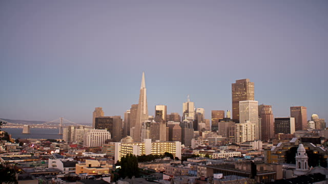 Day to Night San Francisco skyline video