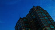 4K TIME LAPSE Day to Night (4096x2160) : The building office. (Apple ProRes. 422(HQ)) video
