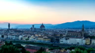 Day to night time lapse at Florence, Italy video