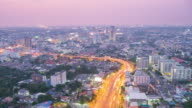Day to Night Time Lapse over Bangkok, Thailand video