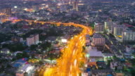 Day to Night Time Lapse over Highway of Bangkok, Thailand video