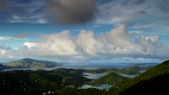 day to night time-lapse of Coral Bay, St.John, USVI video