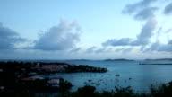 day to night time-lapse of Cruz Bay, St.John, USVI video
