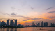 Day to Night Time-lapse of singapore City video