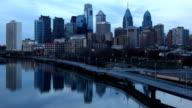 Day to night timelapse of the Philadelphia City center video