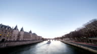 A Day to Night Timelapse on Seine Paris River video