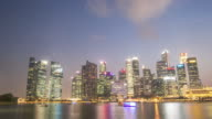4K Day to night Time-lapse: Singapore Cityscape Marina Bay video