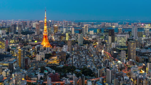 Day to Night:Tokyo cityscape video