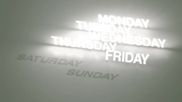 Days, Months Glowing Timeline video