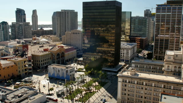 Daytime High Angle Aerial View of San Diego Skyline video