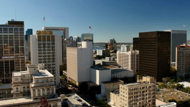 Daytime High Angle View of San Diego Skyline video