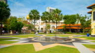 Daytime Malay Heritage Centre in Singapore  motion timelapse video