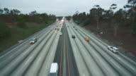 Daytime shot of highway traffic video