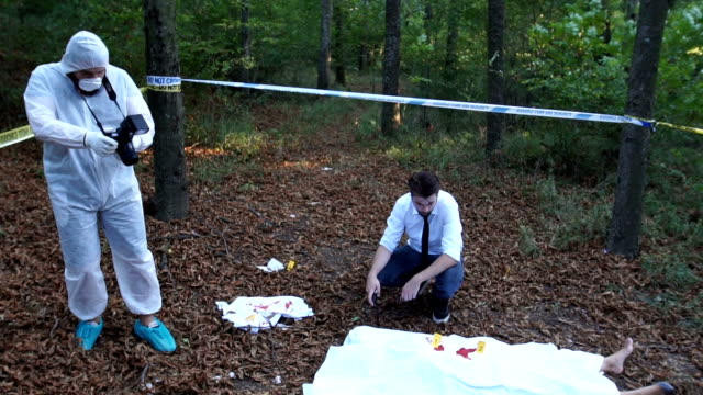 Dead body found in forest video