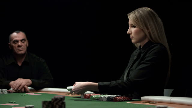 HD DOLLY: Dealing Poker Cards video