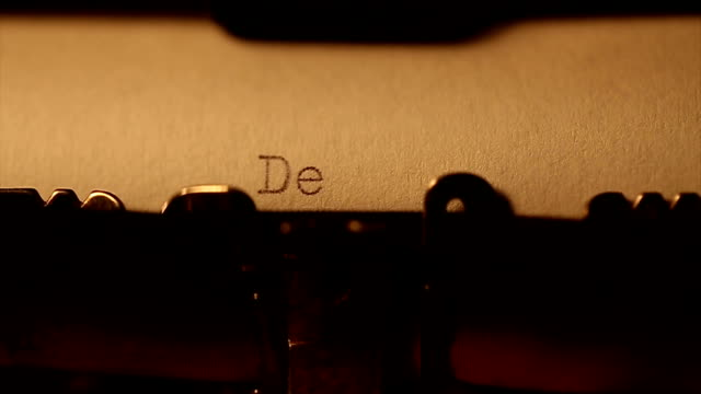 'Dear love' typed using an old typewriter video