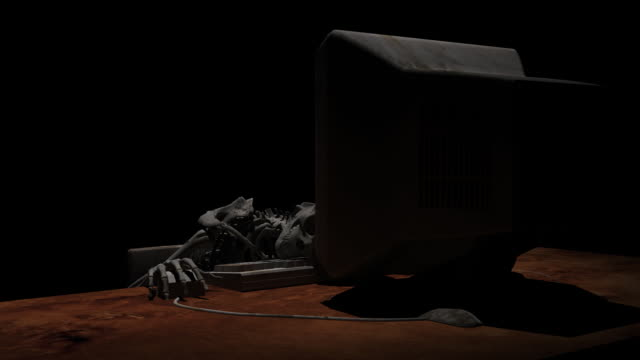 Death in front of computer video