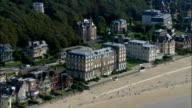 Deauville  - Aerial View - Lower Normandy, Calvados, Arrondissement de Lisieux, France video