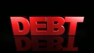Debt Text Falls from Sky (3D Drop) video