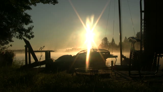 Deck Chairs and Mist at Sunrise video