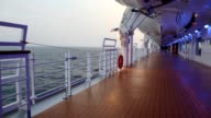 Deck with illumination of cruise liner video