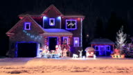 Decorated and illuminated House for Christmas video
